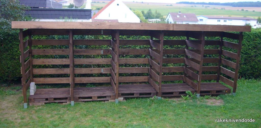 Gut gemocht Einen stabilen Brennholzunterstand (Brennholzschuppen) gut und KT36