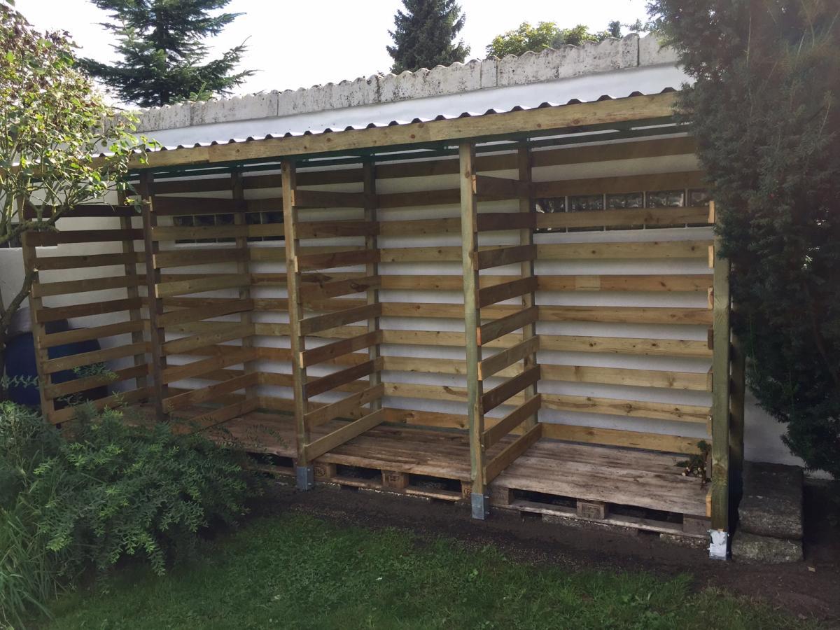 Berühmt Einen stabilen Brennholzunterstand (Brennholzschuppen) gut und JP39
